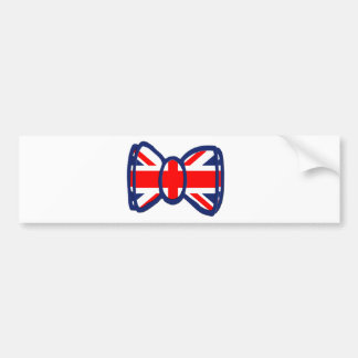 Fun Union Jack Bow Tie Art Bumper Sticker
