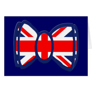 Fun Union Jack Bow Tie Art Card