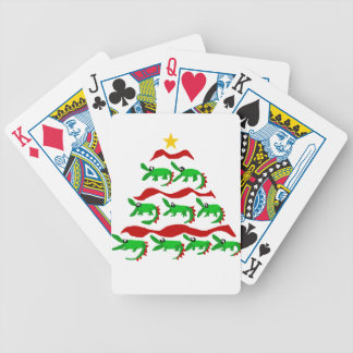 Fun Unique Alligator Art Christmas Tree Bicycle Playing Cards