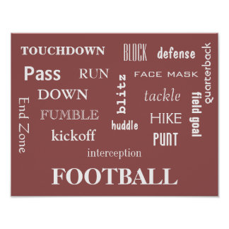 Fun & Unique Football Poster!!!! Poster