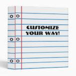 Fun Unique! Paper Design Custom Notebook Binder