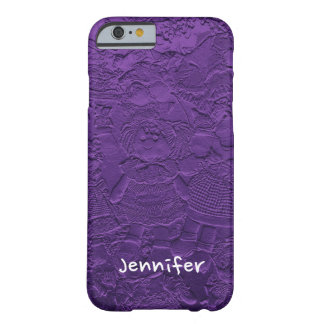 Fun, Unique Purple Dolls, with Personalized Name Barely There iPhone 6 Case