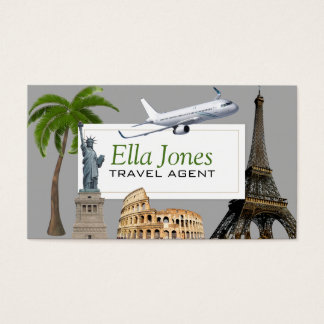 Fun Unique Travel Agent Business Card