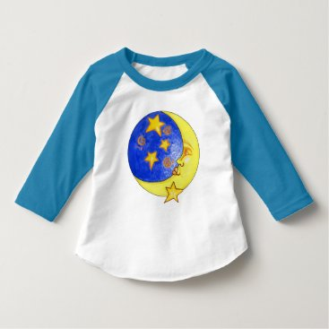 doodlesgifts Fun Unisex stars and moon toddler t-shirt