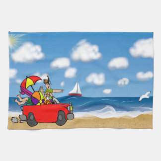 FUN VACATION ROAD BEACH TRIP, FRIENDS TOWEL