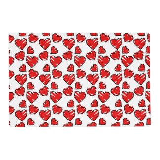 Fun Valentine Heart Scribbles Placemat