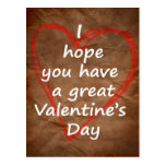 fun valentine postcard