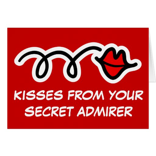 Fun Valentines Day Card   Kisses of secret admirer