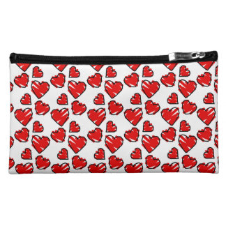 Fun Valrentine Heart Scribbles Cosmetic Bag