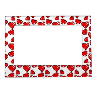 Fun Valrentine Heart Scribbles Magnetic Photo Frame