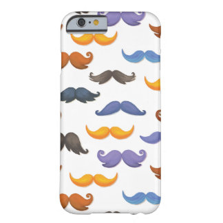 Fun various colorful mustache pattern barely there iPhone 6 case
