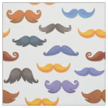 Fun various colorful mustache pattern fabric