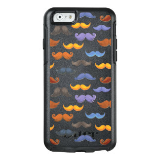 Fun various colorful mustache pattern OtterBox iPhone 6/6s case