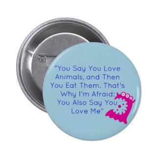 Fun Vegan Button 2 Inch Round Button