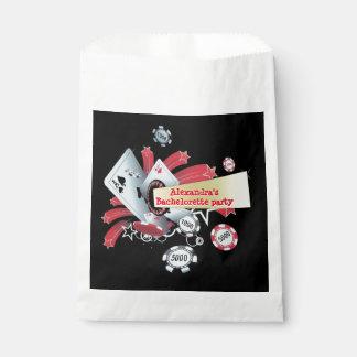 Fun Vegas poker casino chip bachelorette party Favor Bag