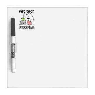 Fun Vet Tech Extraordinaire Dry-Erase Board