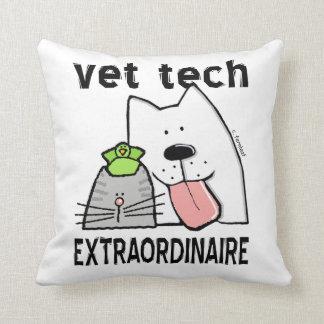 Fun Vet Tech Extraordinaire Throw Pillow