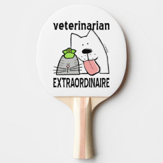 Fun Veterinarian Extraordinaire Ping-Pong Paddle