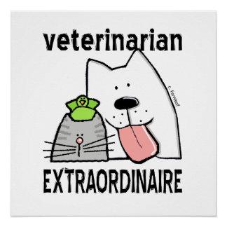 Fun Veterinarian Extraordinaire Poster