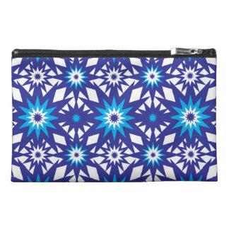Fun Vibrant Blue Teal Star Starburst Pattern Travel Accessories Bags