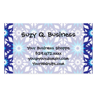 Fun Vibrant Blue Teal Star Starburst Pattern Business Card