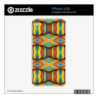 Fun Vibrant Color Dimensional Kaleidoscope Design iPhone 4 Skins