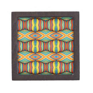 Fun Vibrant Color Dimensional Kaleidoscope Design Jewelry Box