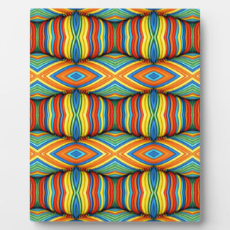 Fun Vibrant Color Dimensional Kaleidoscope Design Plaque