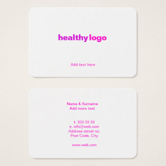 Fun Vibrant Networking Card template