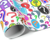 Fun Vibrant Pattern of Question Marks Wrapping Paper
