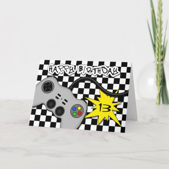 Fun Video Game Controller Cute Teen Birthday Card