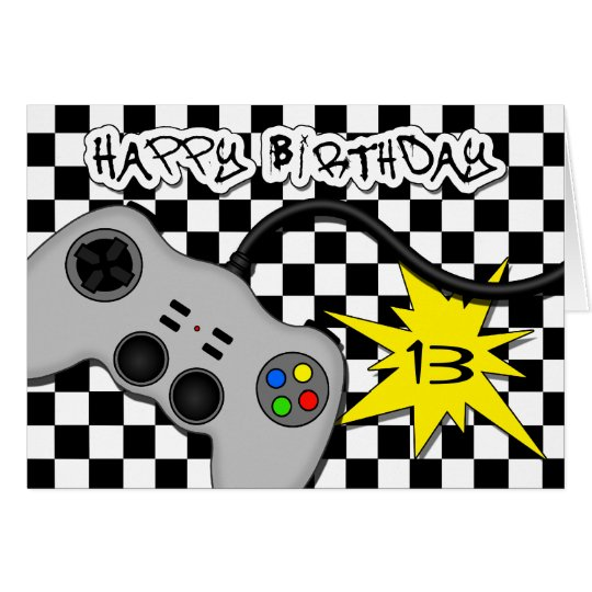 Fun Video Game Controller Cute Teen Birthday Card – Video Birthday Cards