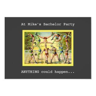 Fun Vintage Bachelor Party Card