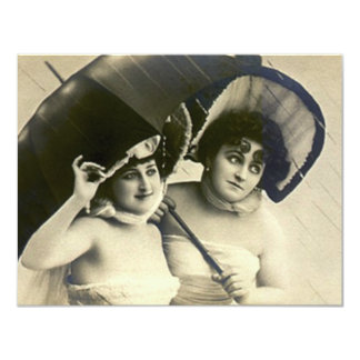 Fun Vintage Bridal Shower Invitation Gals In Rain
