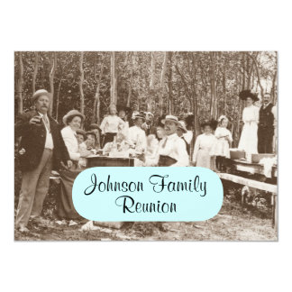 Fun Vintage Family Picnic Party Reunion Invitation