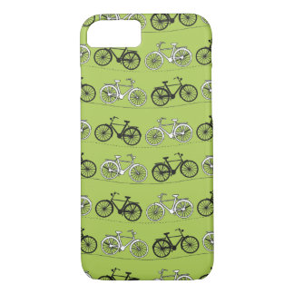 Fun Vintage Green Bicycles iPhone 7 Case