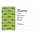 Fun Vintage Green Bicycles Pattern Print Large Business Cards (Pack Of 100)