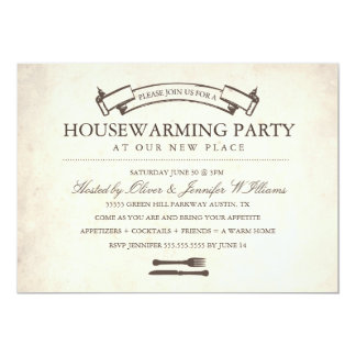 Fun Vintage Housewarming Party Invite
