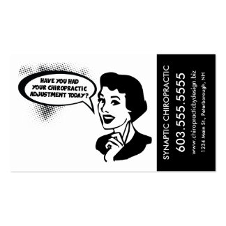 Fun Vintage-Look Chiropractic Ad Appointment Cards Business Card