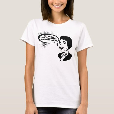 Fun Vintage-Look Chiropractic Ad Personalized T-Shirt