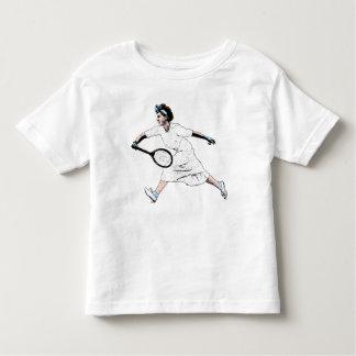 Fun Vintage Photo Illustration of Tennis Player Toddler T-shirt