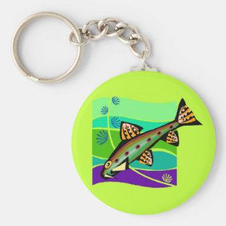Fun Vintage Retro Tropical Fish Keychain