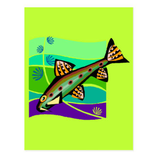 Fun Vintage Retro Tropical Fish Postcards