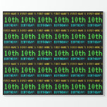 [ Thumbnail: Fun Vintage/Retro Video Game Look 10th Birthday Wrapping Paper ]