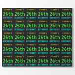 [ Thumbnail: Fun Vintage/Retro Video Game Look 26th Birthday Wrapping Paper ]