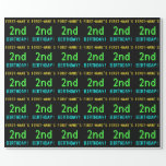 [ Thumbnail: Fun Vintage/Retro Video Game Look 2nd Birthday Wrapping Paper ]