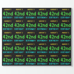 [ Thumbnail: Fun Vintage/Retro Video Game Look 42nd Birthday Wrapping Paper ]