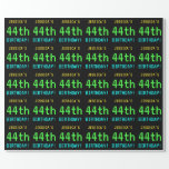 [ Thumbnail: Fun Vintage/Retro Video Game Look 44th Birthday Wrapping Paper ]
