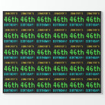[ Thumbnail: Fun Vintage/Retro Video Game Look 46th Birthday Wrapping Paper ]