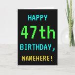 [ Thumbnail: Fun Vintage/Retro Video Game Look 47th Birthday ]